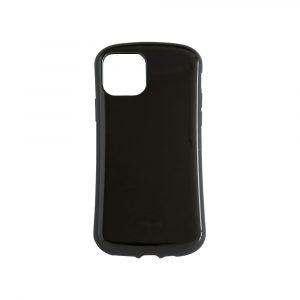 iPhone 11 [CRAYON] 背面キズ修復防指紋 衝撃吸収ハイブリッドケース – ブラック