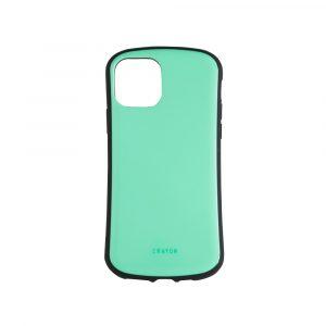 iPhone 11 [CRAYON] 背面キズ修復防指紋 衝撃吸収ハイブリッドケース – グリーン