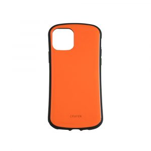 iPhone 11 [CRAYON] 背面キズ修復防指紋 衝撃吸収ハイブリッドケース – オレンジ