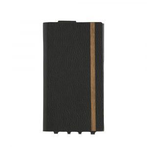iPhone 11 Pro Max [FlipNote Light] 極薄軽量 クラリーノフリップノートケース – ブラック