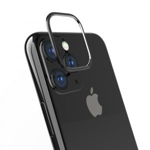 iPhone 11 Pro [Lens Bumper] カメラレンズ保護アルミフレーム – ブラック
