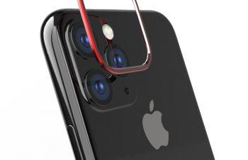 iPhone 11 Pro [Lens Bumper] カメラレンズ保護アルミフレーム – レッド