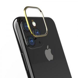 iPhone 11 [Lens Bumper] カメラレンズ保護アルミフレーム – ゴールド