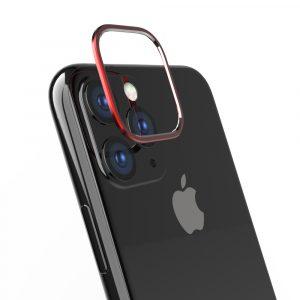 iPhone 11 [Lens Bumper] カメラレンズ保護アルミフレーム – レッド