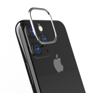 iPhone 11 Pro Max [Lens Bumper] カメラレンズ保護アルミフレーム – シルバー