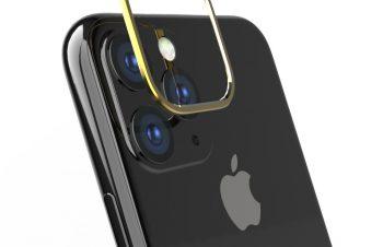 iPhone 11 Pro Max [Lens Bumper] カメラレンズ保護アルミフレーム – ゴールド