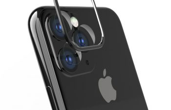 iPhone 11 Pro Max [Lens Bumper Plus] カメラレンズ保護アルミフレーム&ガラスコーティングフィルムセット – ブラック