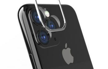 iPhone 11 Pro Max [Lens Bumper Plus] カメラレンズ保護アルミフレーム&ガラスコーティングフィルムセット – シルバー