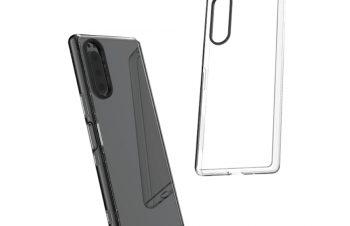 Xperia 5 [Turtle] ハイブリッドケース 埃ガード付き – ブラック