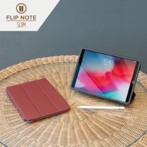 iPad(第9世代) / iPad(第8世代) / iPad (第7世代)/ iPad Air(第3世代)/ iPad Pro 10.5インチ  [FlipNote Light] クラリーノ フリップノートケース