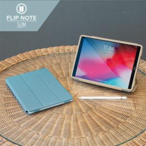 iPad(第9世代) / iPad(第8世代) / iPad (第7世代)/ iPad Air(第3世代)/ iPad Pro 10.5インチ  [FlipNote Light] 極薄軽量 サフィアーノ フリップノートケース