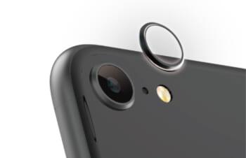 iPhone SE(第2世代)/ 8 [Lens Bumper] カメラレンズ保護アルミフレーム – ブラック