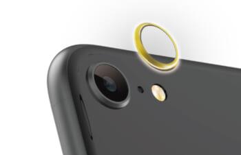iPhone SE(第2世代)/ 8 [Lens Bumper] カメラレンズ保護アルミフレーム – ゴールド