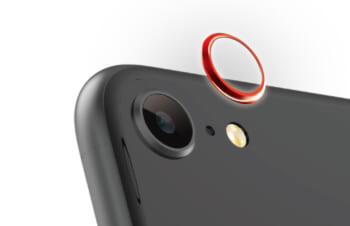 iPhone SE(第2世代)/ 8 [Lens Bumper] カメラレンズ保護アルミフレーム – レッド