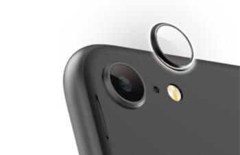 iPhone SE(第2世代)/ 8 [Lens Bumper Plus] カメラレンズ保護アルミフレーム&ガラスコーティングフィルムセット – ブラック