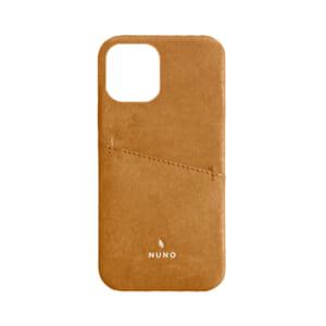 iPhone 12 / iPhone 12 Pro用ケース [NUNO] カードポケット付き本革バックケース – ブラウン
