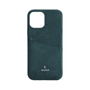 iPhone 12 / iPhone 12 Pro用ケース [NUNO] カードポケット付き本革バックケース – ブルー