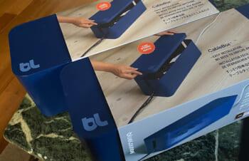 blueloungeケーブルボックス!