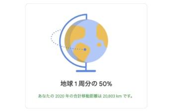 Googleマップのタイムライン機能で、2020年を振り返って楽しんでみる。