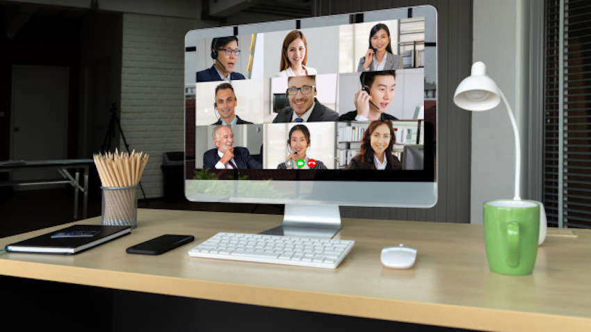 Video Call Business People Meeting Virtual Workplace Remote Office 31965 7175